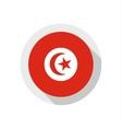Flag of Tunisia vector image vector image