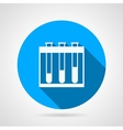 Flat round icon for test-tubes vector image vector image