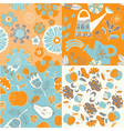 floral repeat pattern vector image vector image