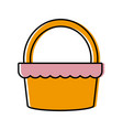 food basket picnic vector image