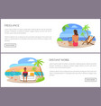 freelance and distant work page vector image vector image