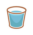 glass of blue water vector image