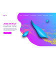 gradient fluid shapes futuristic geometric vector image vector image