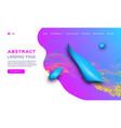 Gradient fluid shapes futuristic geometric