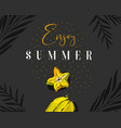 hand drawn abstract summer time creative vector image