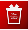 Happy New Year and Merry Christmas Gift greeting vector image vector image