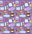 healthy lifestyle fitnes seamless pattern vector image