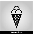Ice cream Simple flat white pictogram vector image