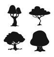 isolated object of tree and nature logo vector image