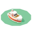isometric ship vector image vector image