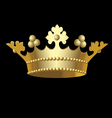 kings crown vector image vector image