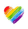 lgbt flag lgbt pride flag gay and lesbian vector image