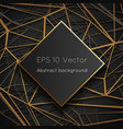 low polygon geometric web space world abstract vector image vector image