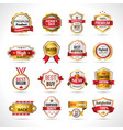 Luxury Labels Gold And Red vector image vector image