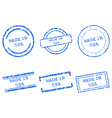 Made in USA stamps vector image vector image