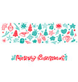 merry christmas calligraphy lettering text vector image