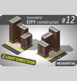 modern isometric building vector image vector image