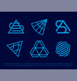 modern professional icon set pyramid in technology vector image