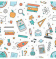 modern seamless pattern with school supplies on vector image vector image