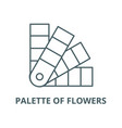 palette flowers line icon linear vector image