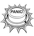 panic red button coloring book vector image vector image