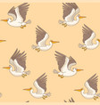 pelican seamless retro vector image vector image