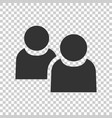 people communication icon in flat style people on vector image vector image