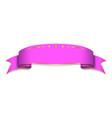 pink ribbon banner satin blank design label vector image