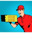 Pizza delivery guy comics vector image