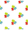 puzzle pattern seamless vector image vector image