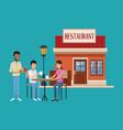 restaurant building scenery vector image