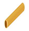 rigatoni pasta mockup realistic style vector image vector image