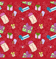 seamless gift boxes pattern vector image vector image