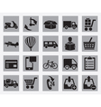 set different delivery icons vector image