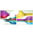 set four multicolor lines eps 8 vector image