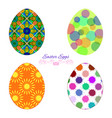 set of colorful easter eggs with decorative vector image