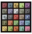 Set of icons and signs vector image vector image