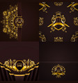 set of luxury ornate backgrounds in vintage style vector image
