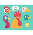 set of the birds farm vector image vector image