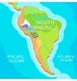 South America Map with Natural Attractions vector image vector image