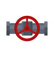 steel valve icon part of tube and pipeline vector image