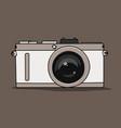 stylish camera symbol vector image vector image
