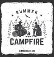 summer campfire badge vector image vector image
