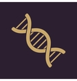 The dna icon Genetic symbol Flat vector image vector image