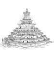 The Kumbum Gyantse Monastery vector image vector image