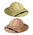 Two classic mens hunting hat image vector image vector image