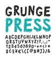 Vintage Press Font Black vector image vector image