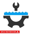 Water Service Gear Eps Icon vector image
