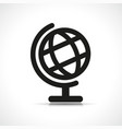 world globe black icon vector image