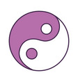 yin yang symbol isolated icon vector image